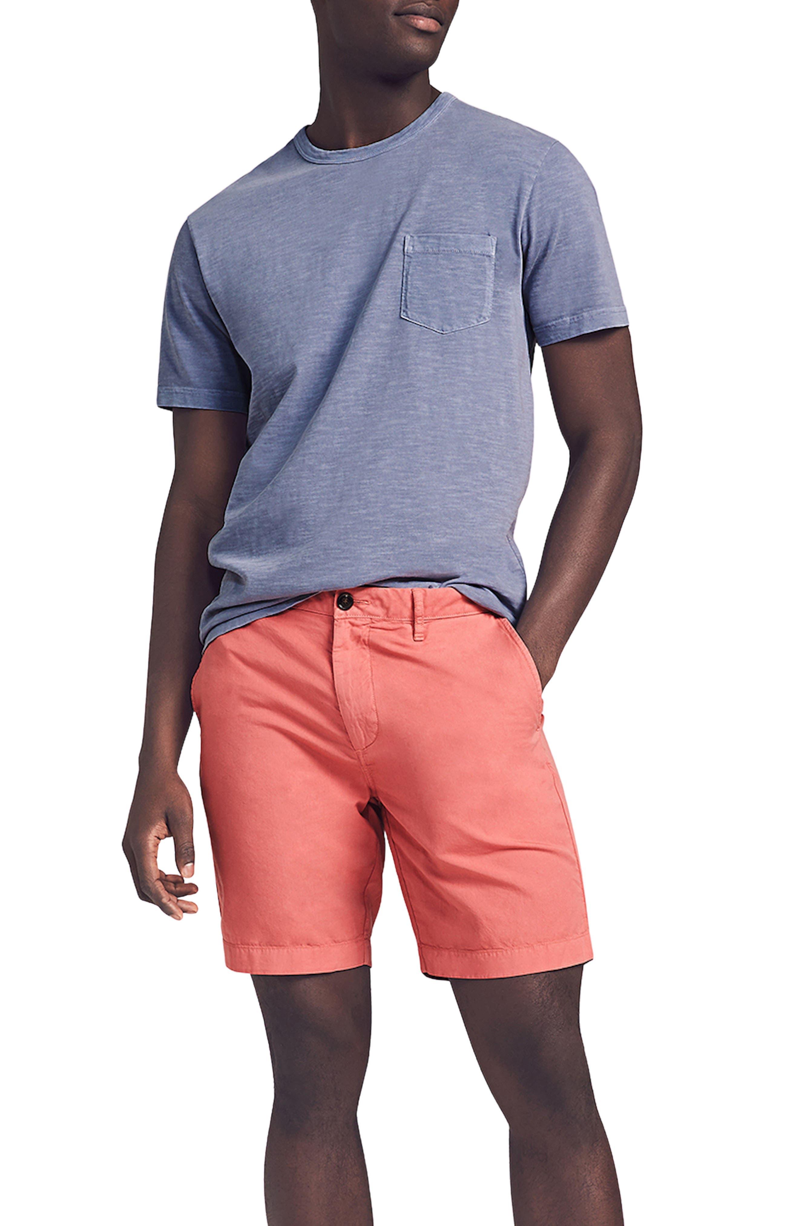 Cloud Cotton Harbor Flat Front Shorts