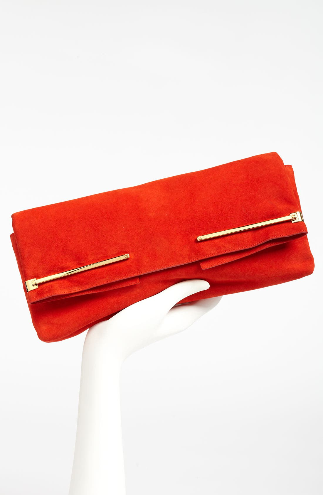 ,                             Leather Clutch,                             Alternate thumbnail 2, color,                             600