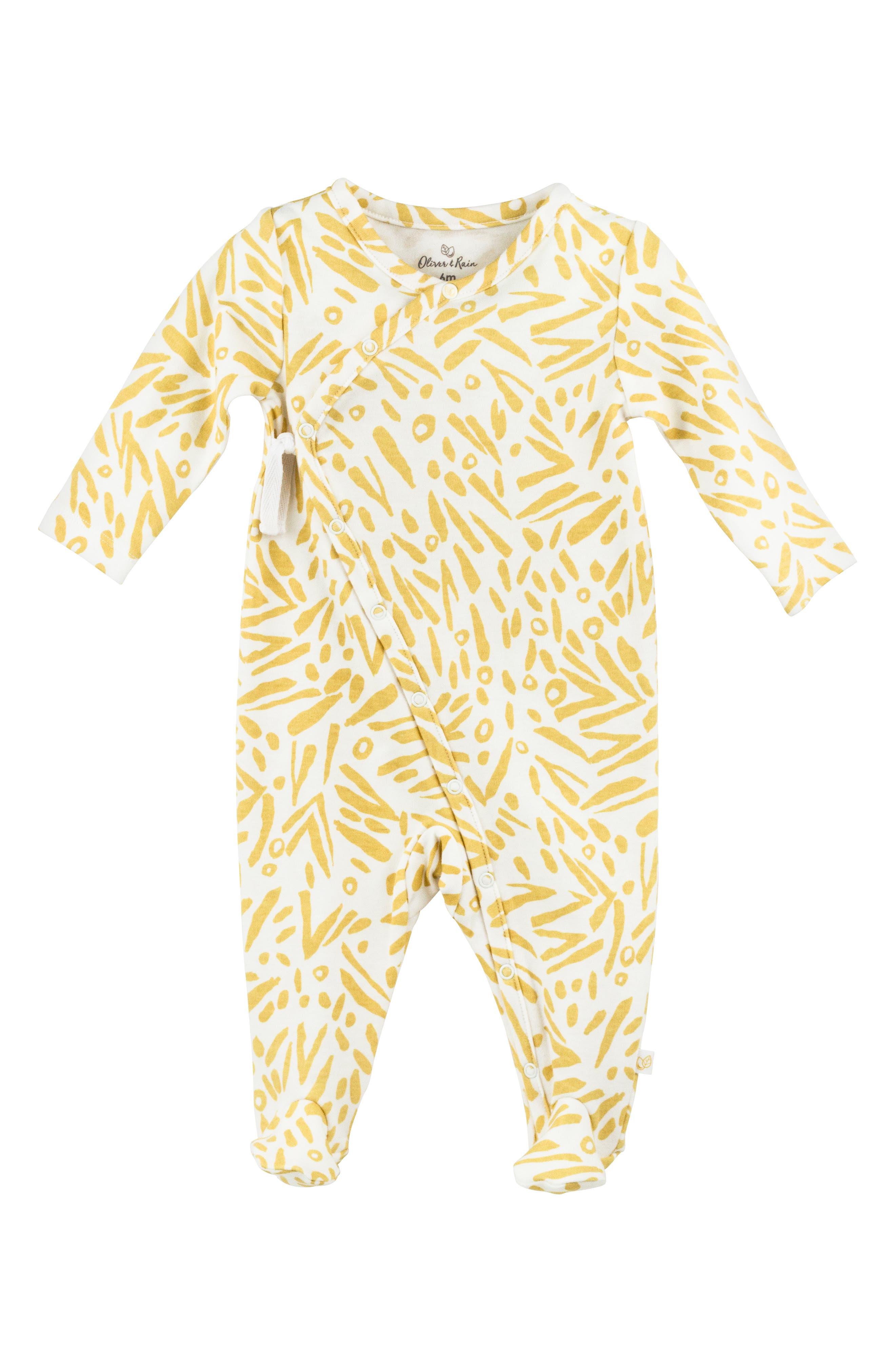 ,                             Organic Cotton Bandana Bib, Bodysuit, Sweatpants & Footie Gift Set,                             Alternate thumbnail 5, color,                             810