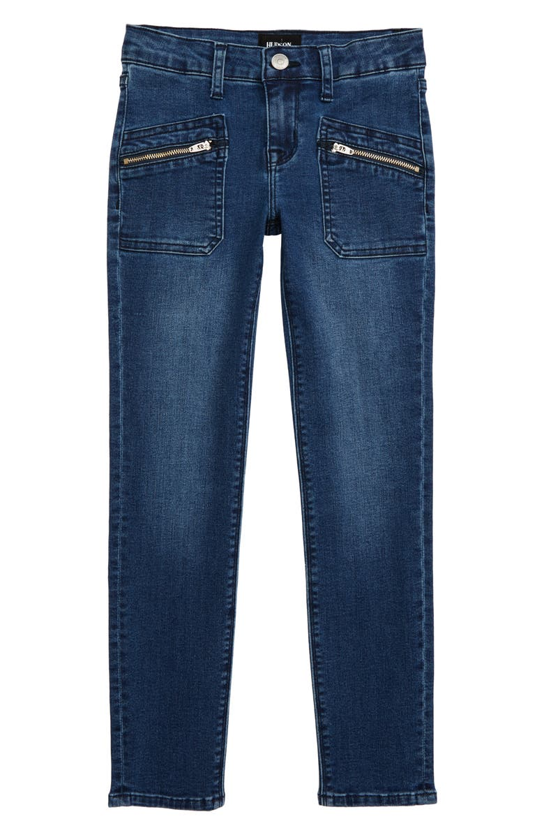 HUDSON JEANS Amiri 23 Zip Pocket Skinny Jeans, Main, color, CYL-CYLINDER WASH