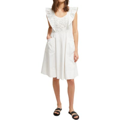 French Connection Vintage Amanda Dress, White