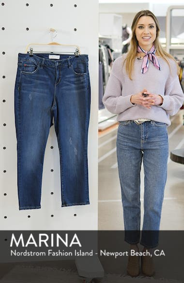 Crop Straight Leg Jeans, sales video thumbnail