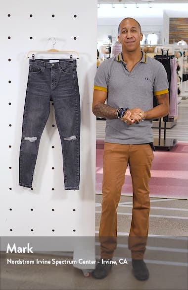 Jamie Ripped High Waist Skinny Jeans, sales video thumbnail