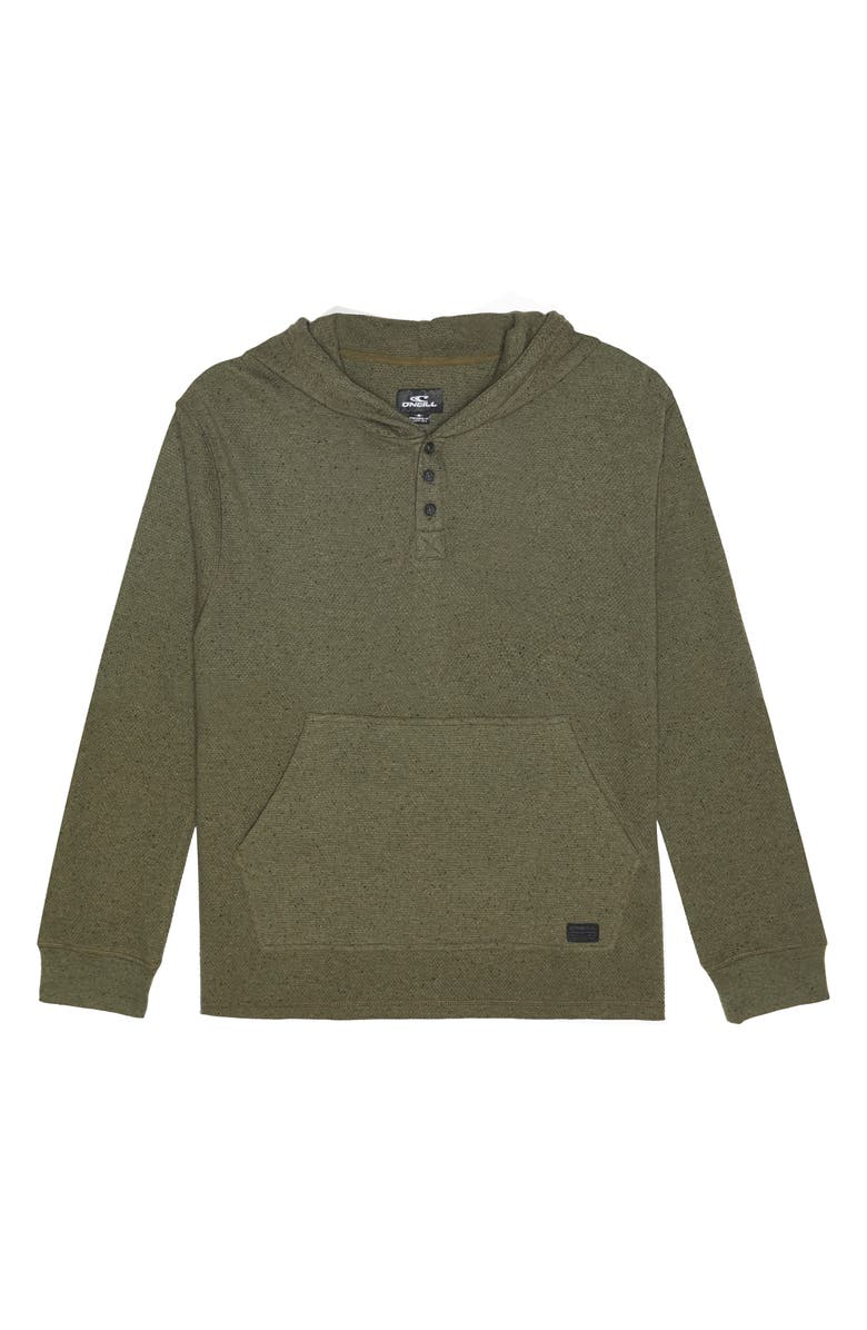 O'NEILL Apollo Nep Henley Hoodie, Main, color, OLIVE