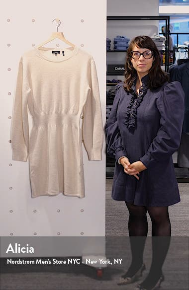 Wool & Cashmere Long Sleeve Sweater Dress, sales video thumbnail