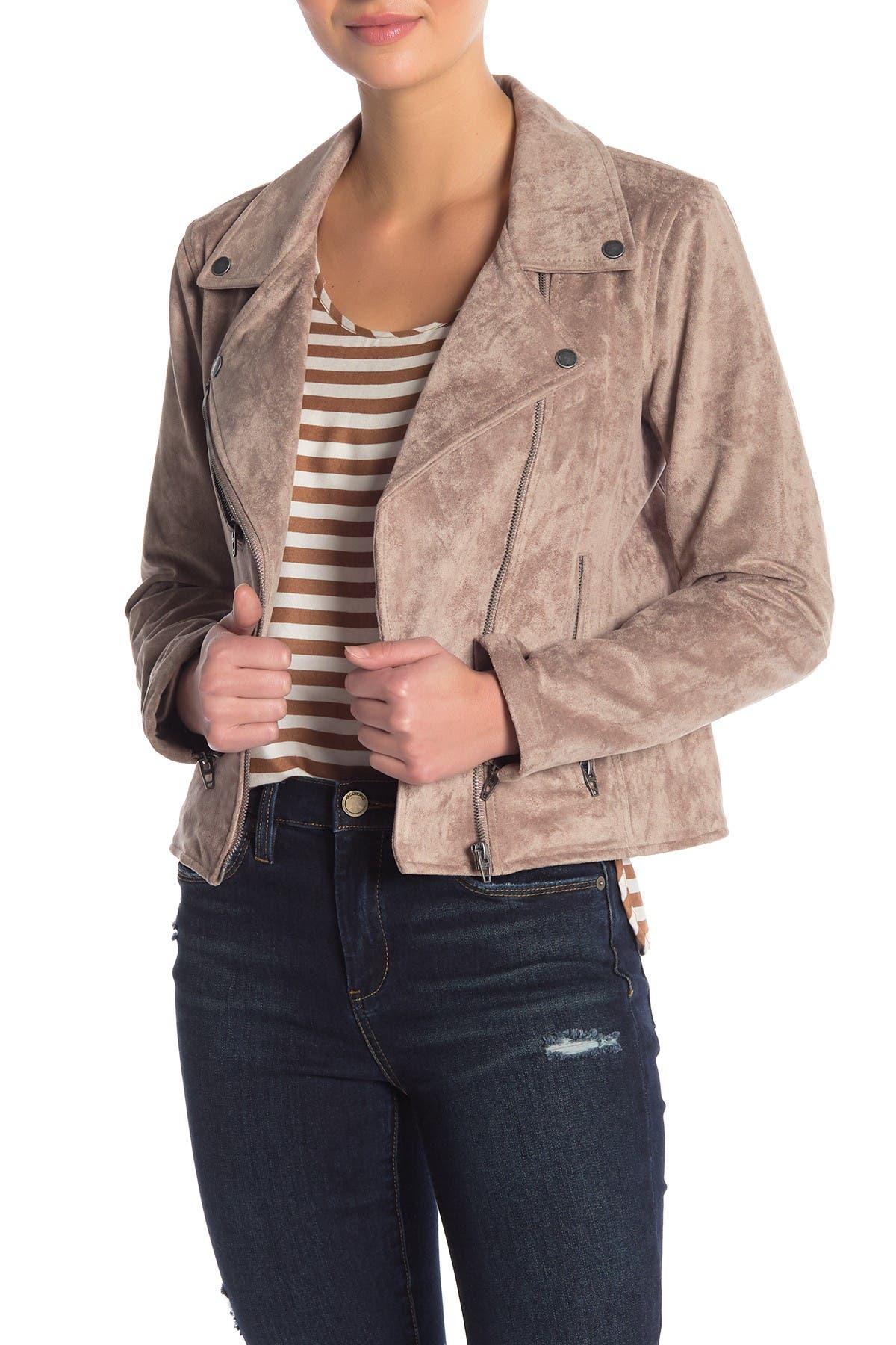 Image of BLANKNYC Denim Faux Suede Moto Jacket