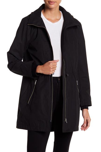 Image of Soia & Kyo Cinch Hooded Rain Resistant Anorak