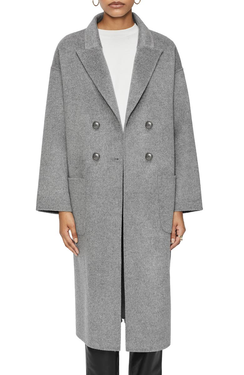 ANINE BING Dylan Wool Blend Coat, Main, color, GREY