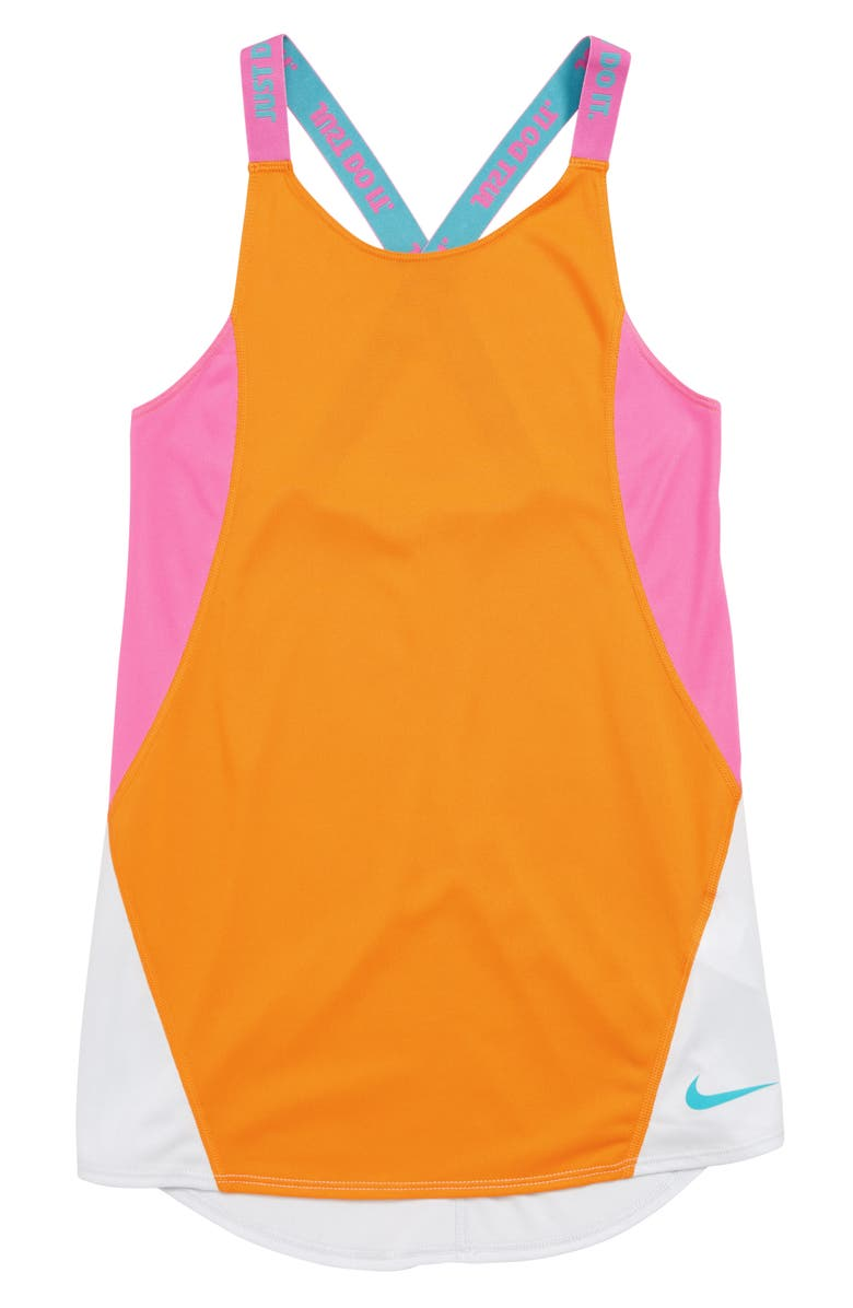 NIKE Dri-FIT Training Tank Top, Main, color, 833