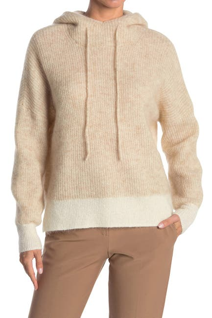 Image of GANNI Soft Wool Knit Hoodie