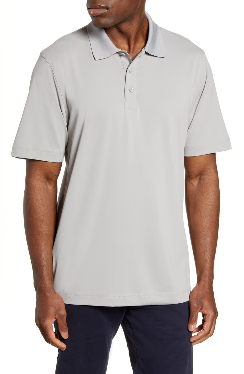 CUTTER & BUCK Forge DryTec Classic Fit Solid Performance Polo, Main, color, POLISHED