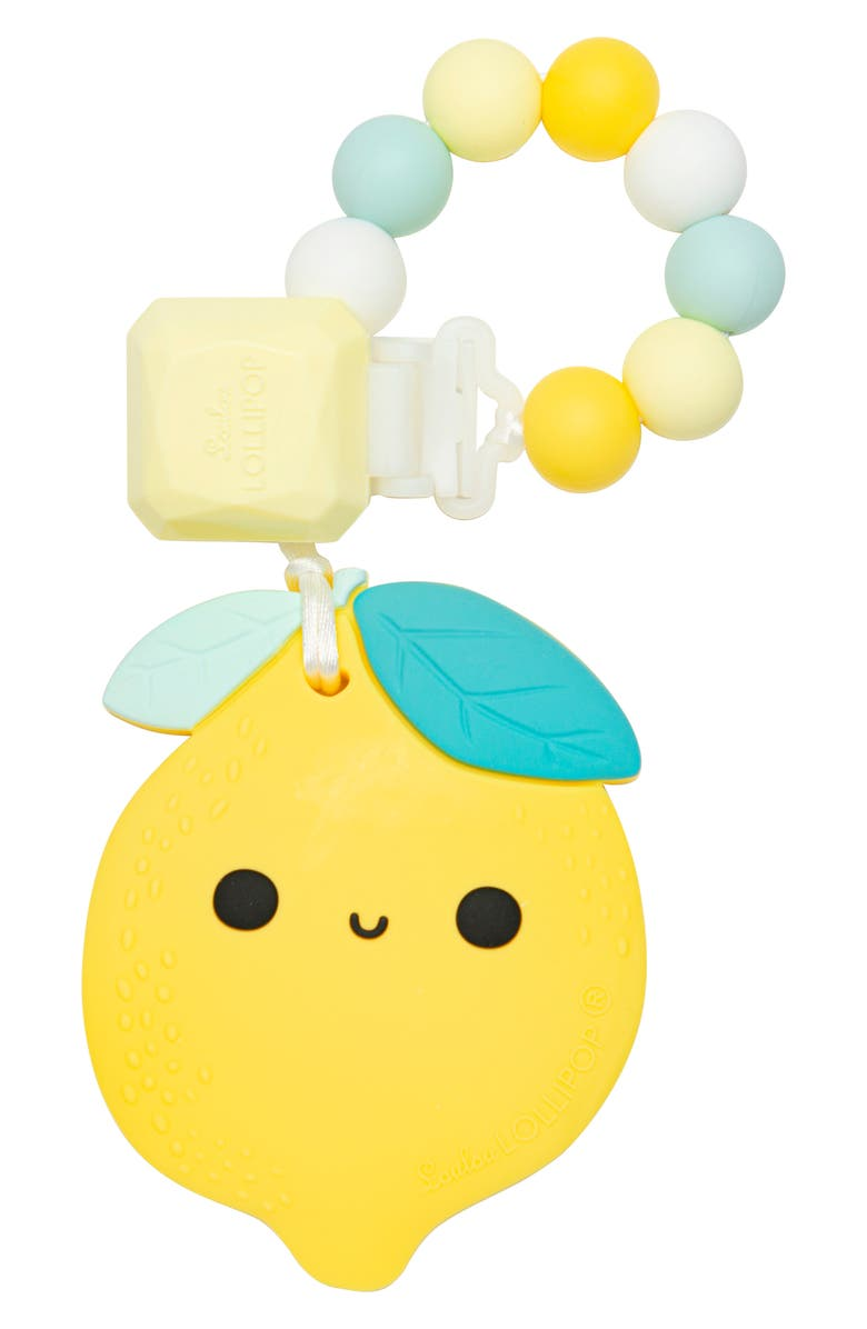 LOULOU LOLLIPOP Lemon Teething Toy & Holder, Main, color, 700
