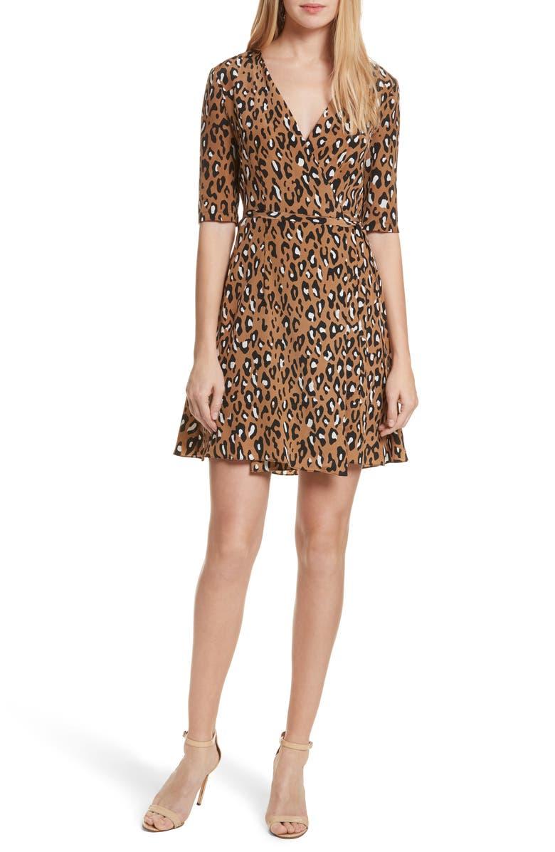 111c19678c85 Diane von Furstenberg New Savilla Leopard Print Silk Wrap Dress, Main,  color, 202