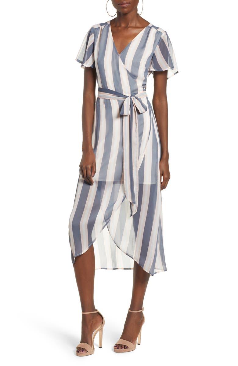 LEITH Wrap Midi Dress, Main, color, 021