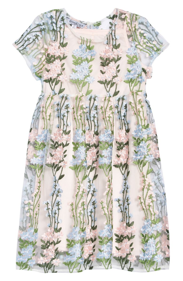 PIPPA & JULIE Embroidered Floral Dress, Main, color, MULTI