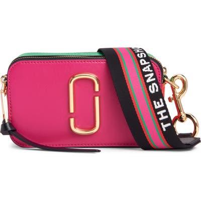 Marc Jacobs Snapshot Leather Crossbody Bag - Pink