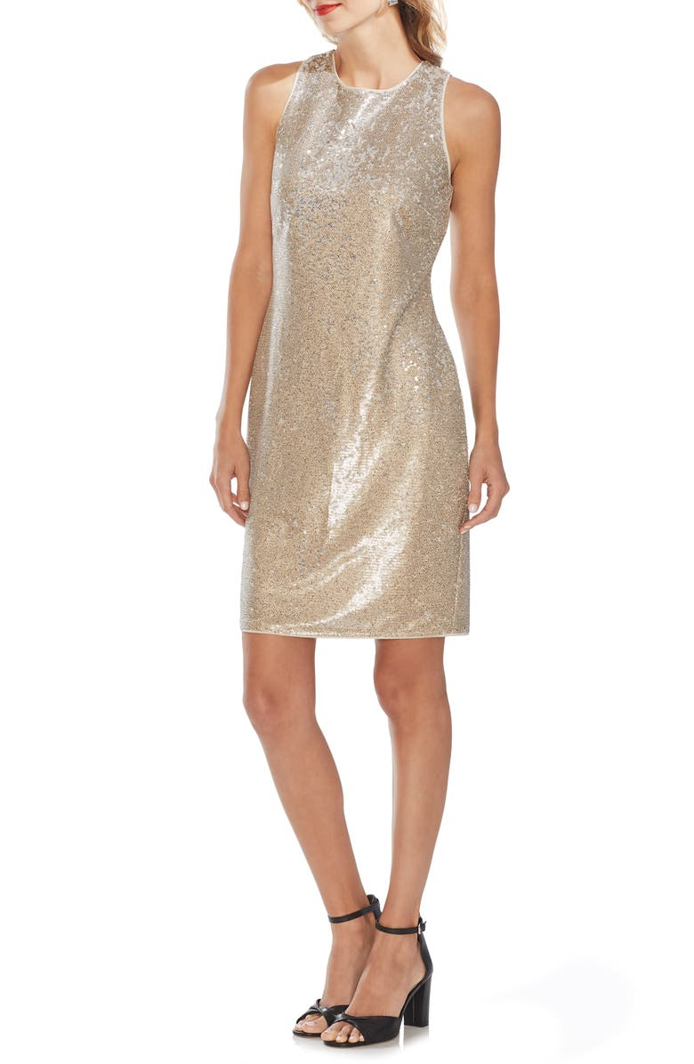 VINCE CAMUTO Sleeveless Sequin Sheath Dress, Main, color, 272
