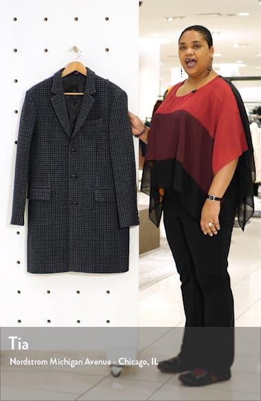 Slim Fit Plaid Wool Blend Topcoat, sales video thumbnail