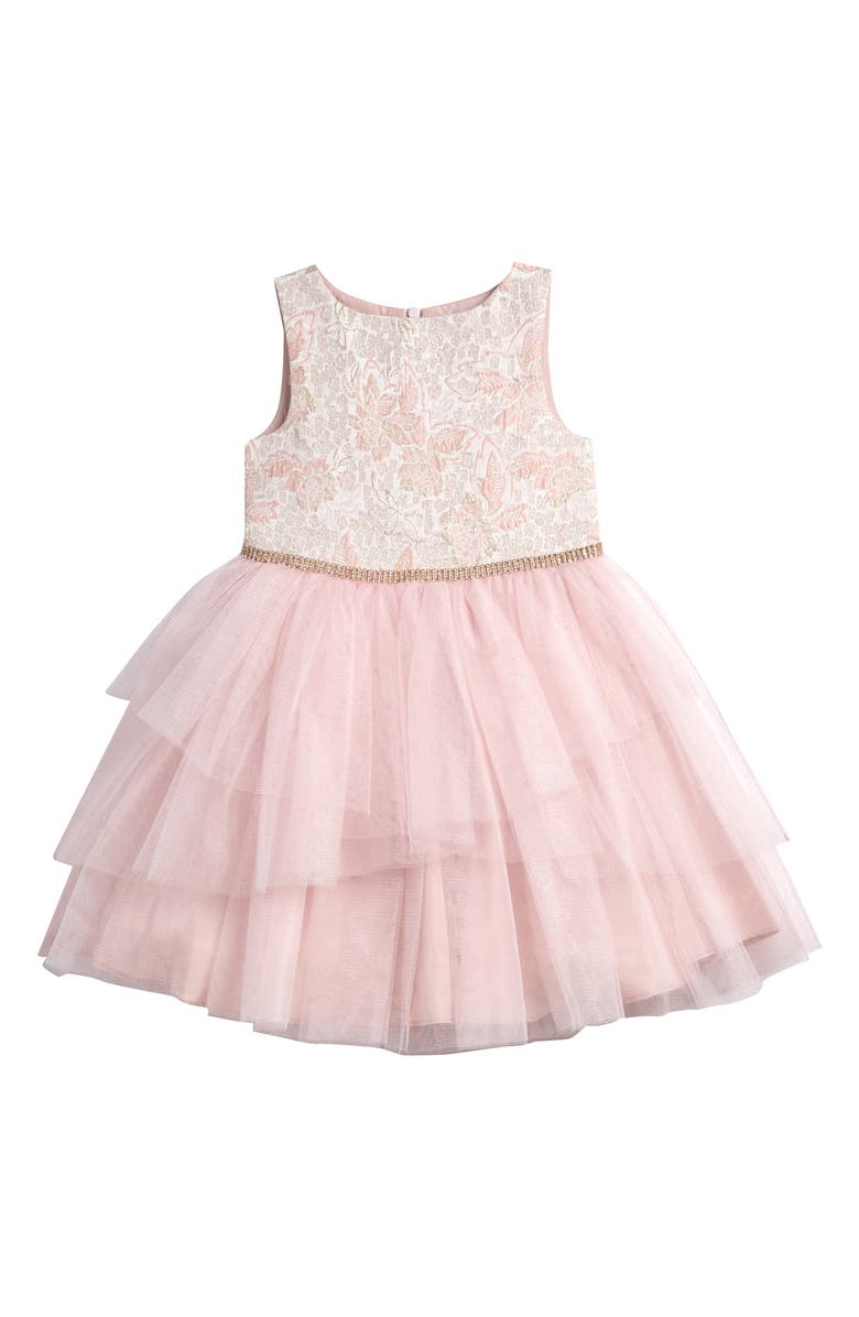 PIPPA & JULIE Brocade Bodice Tutu Dress, Main, color, 650