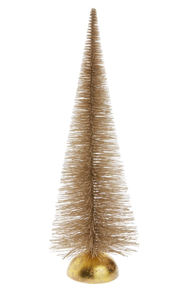 RACHEL PARCELL 18-Inch Glitter Bottle Brush Tree, Main, color, METALLIC BUBBLE