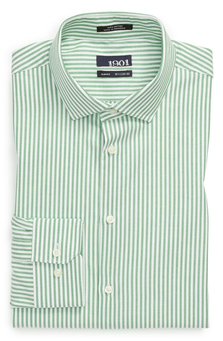 1901 Slim Fit Stripe Oxford Dress Shirt, Main, color, 300