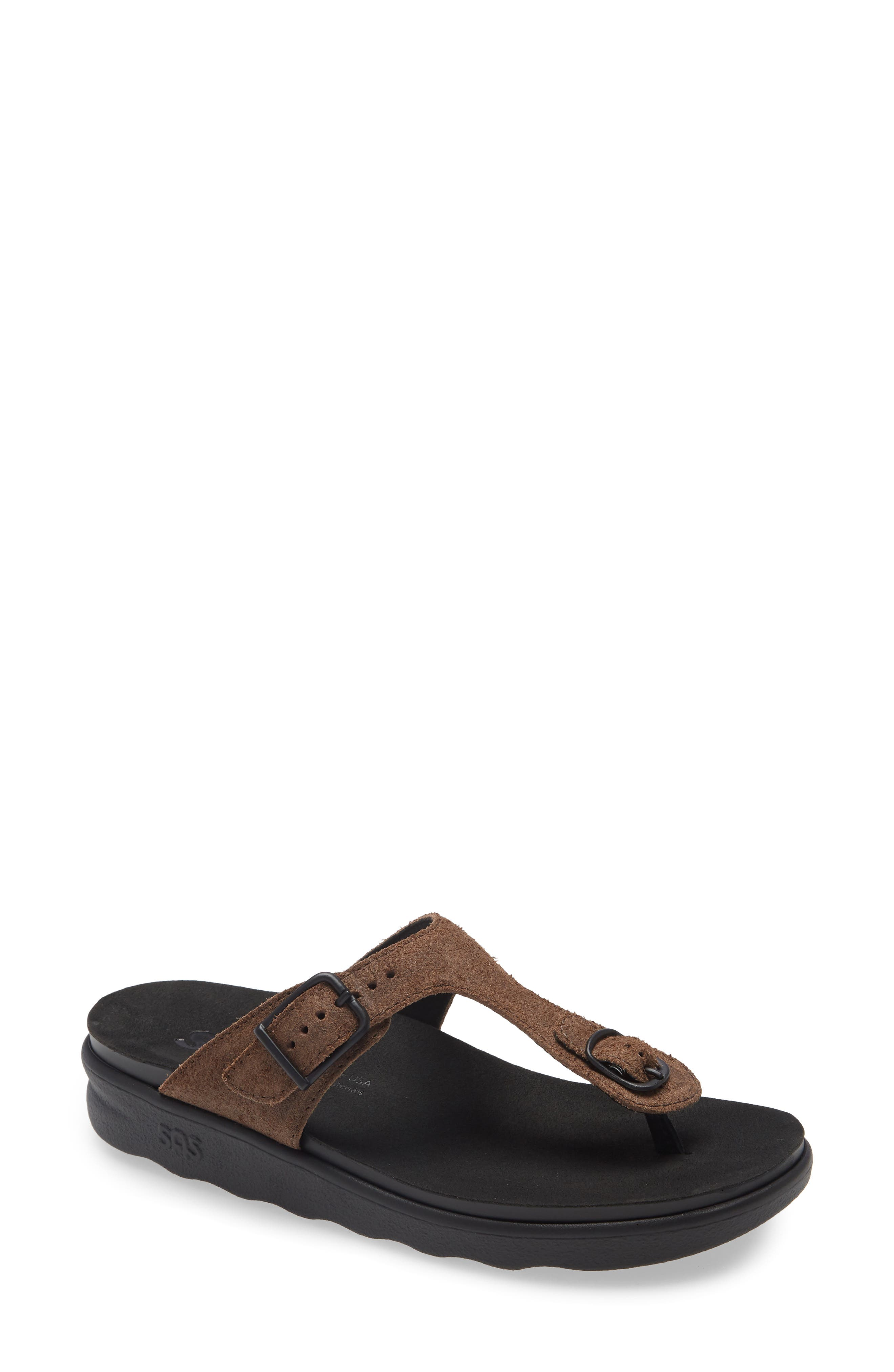 A cushioned, shock-absorbing footbed with pressure-point support provides all-day comfort for this laid-back sandal fitted with an adjustable strap. Style Name: Sas Sanibel Flip Flop (Women). Style Number: 6163131. Available in stores.