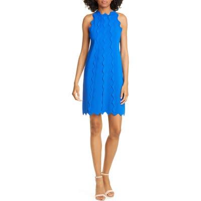Ted Baker London Rickrack Trim Knit Shift Dress, Blue
