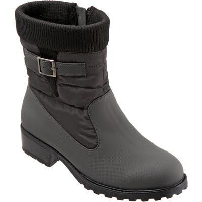 Trotters Berry Weatherproof Boot W - Grey