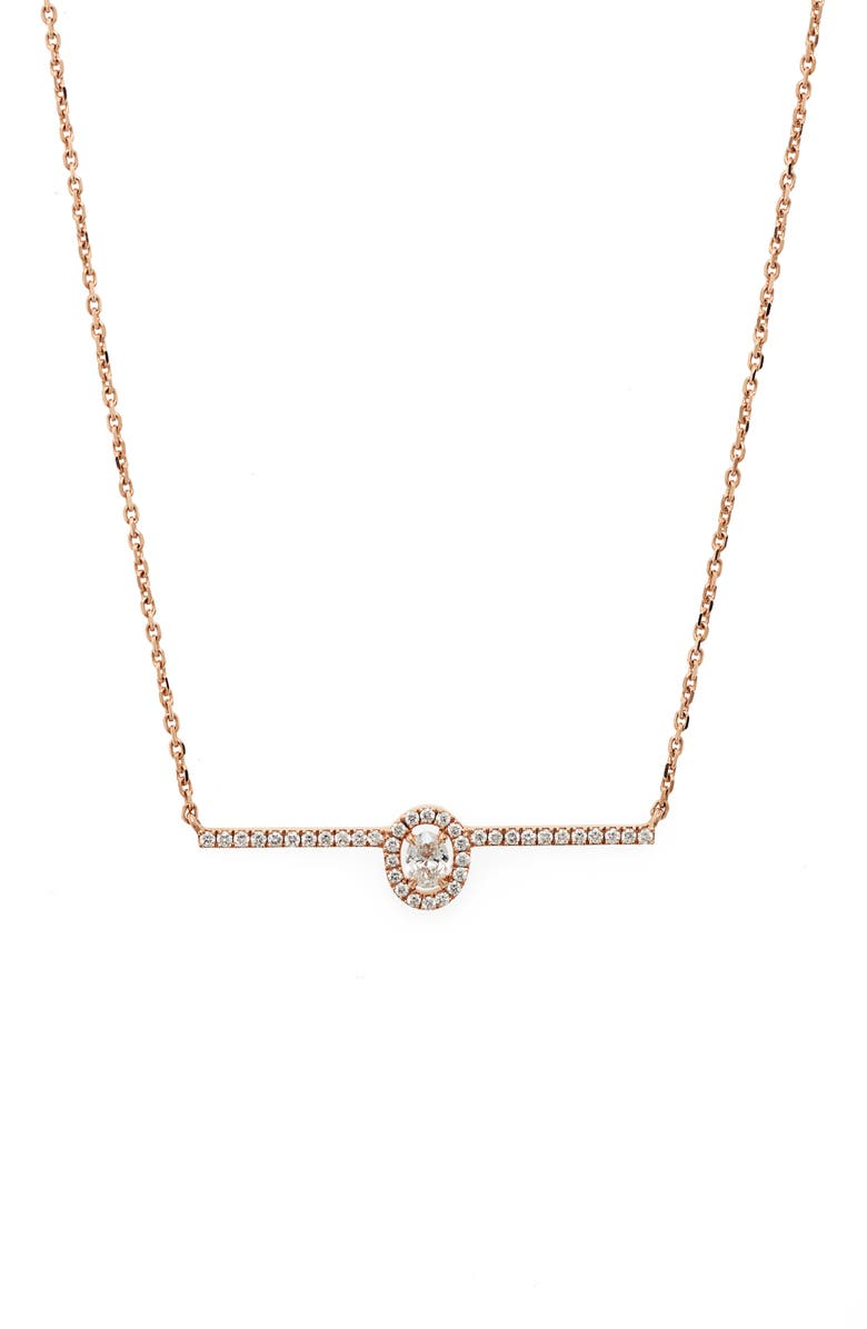 MESSIKA Glam'Azone Pavé Diamond Necklace, Main, color, ROSE GOLD