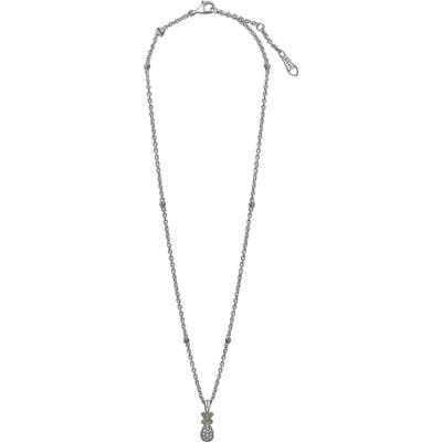 Lagos Caviar Diamond Lux Drop Pendant Necklace
