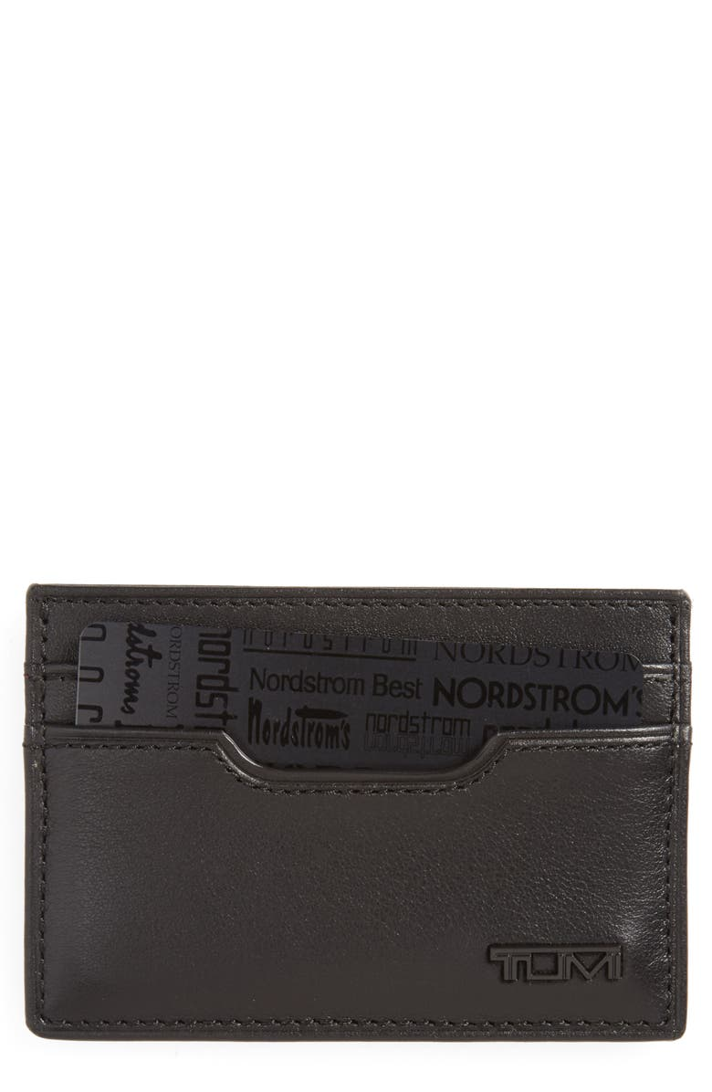 TUMI Delta ID Lock<sup>™</sup> Shielded Slim Card Case & ID Wallet, Main, color, BLACK