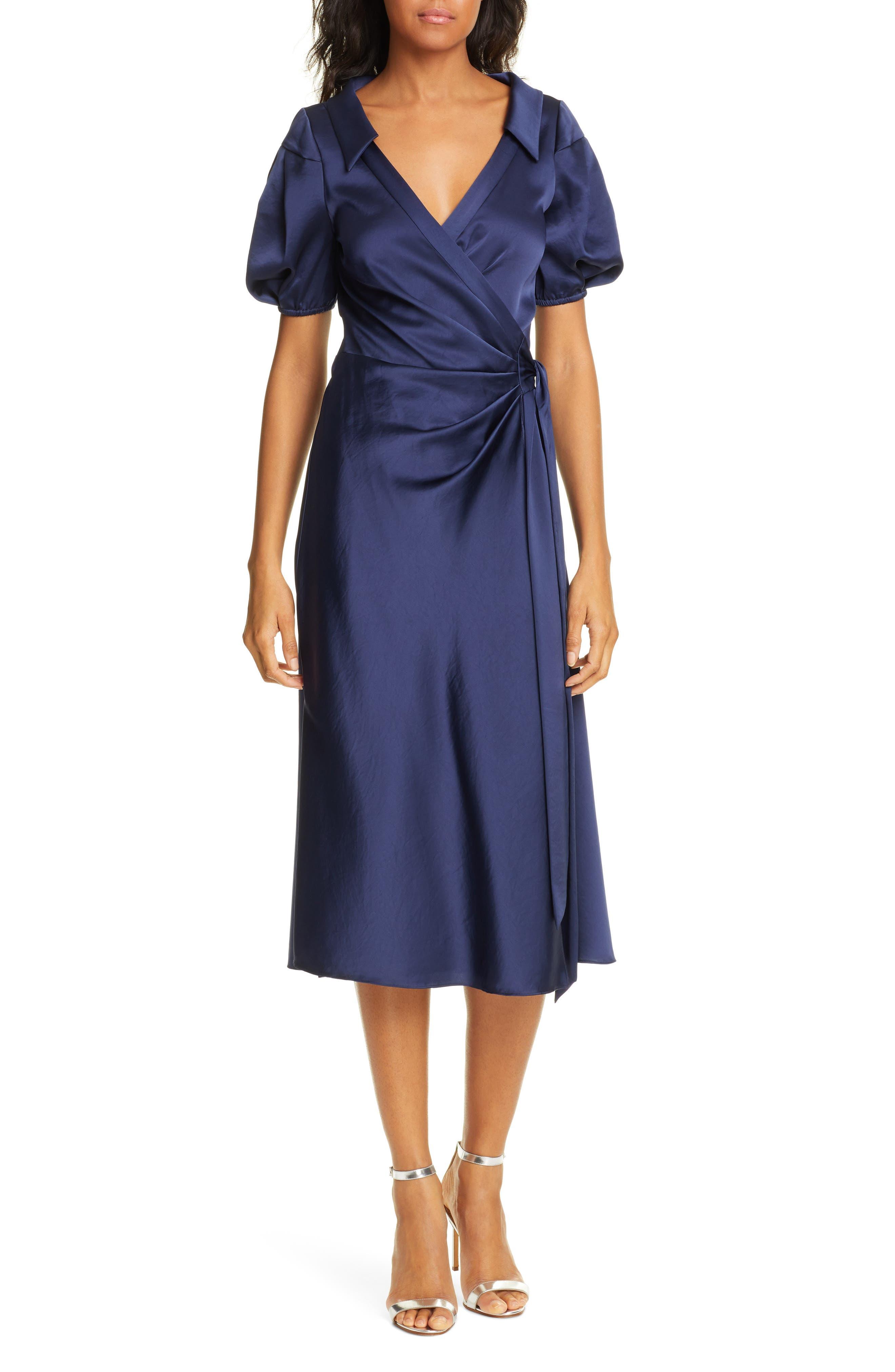 Dvf Valentina Wrap Midi Dress, Blue