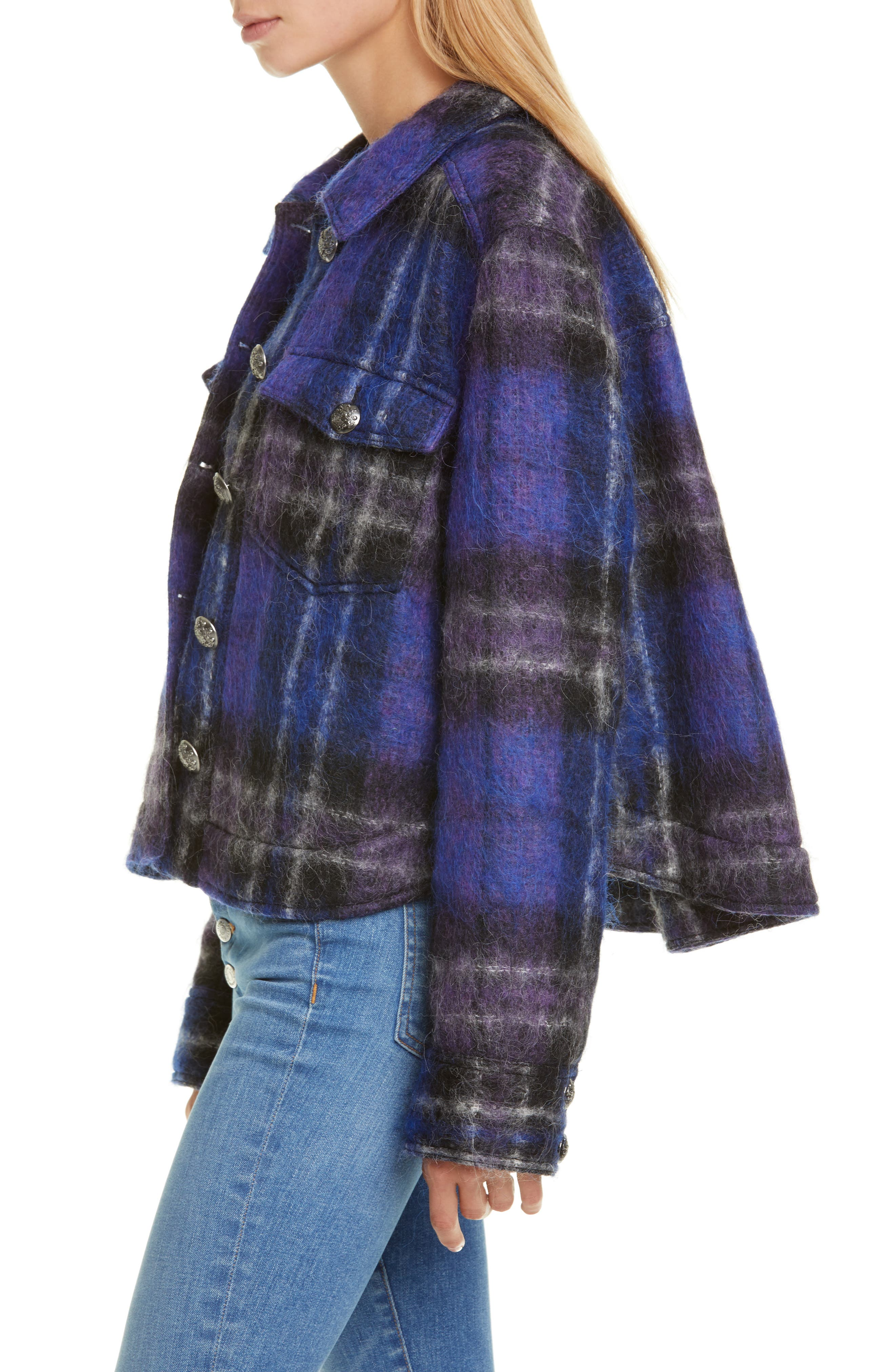 Veronica Beard Coats Emmons Plaid Crop Jacket