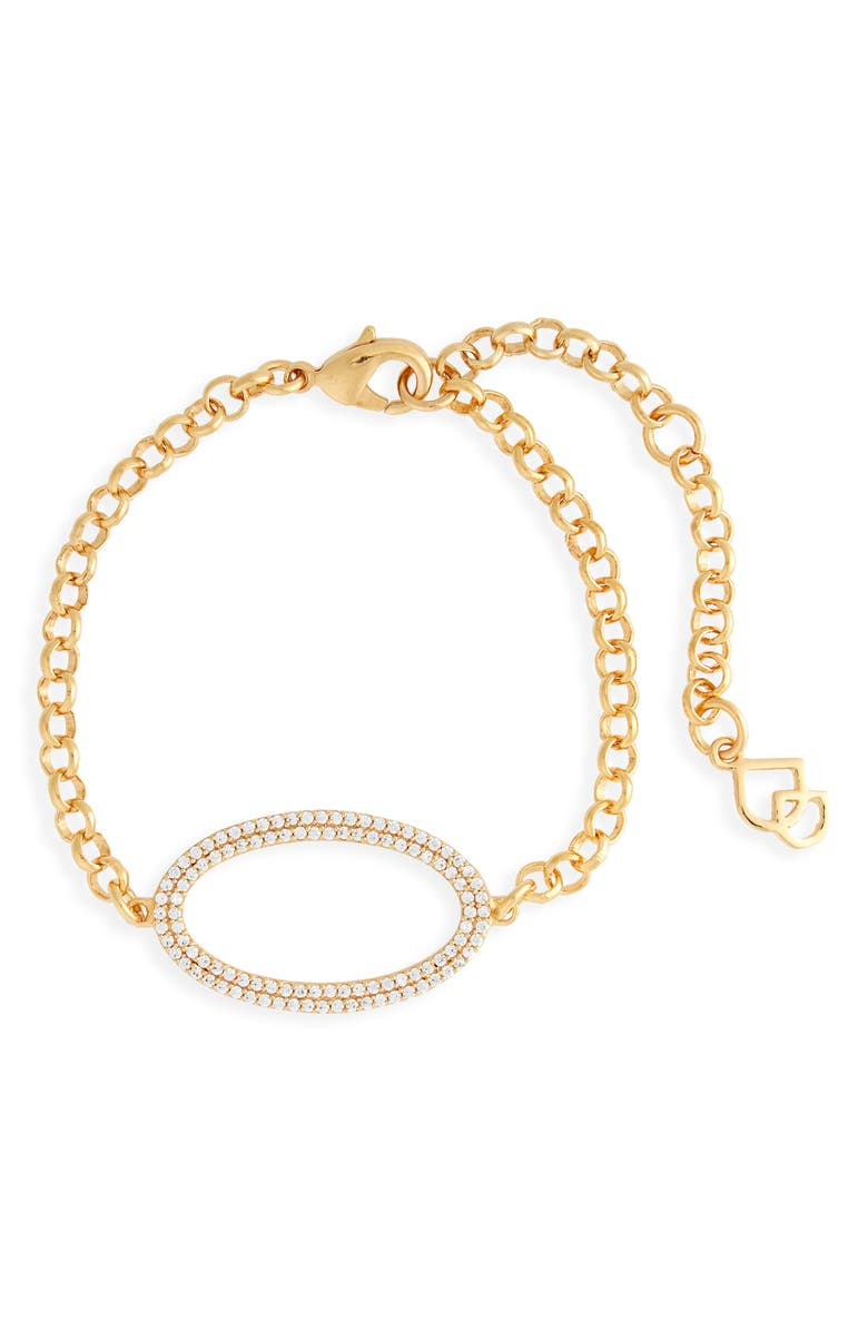 DEAN DAVIDSON Pavé Oval Chain Bracelet, Main, color, GOLD
