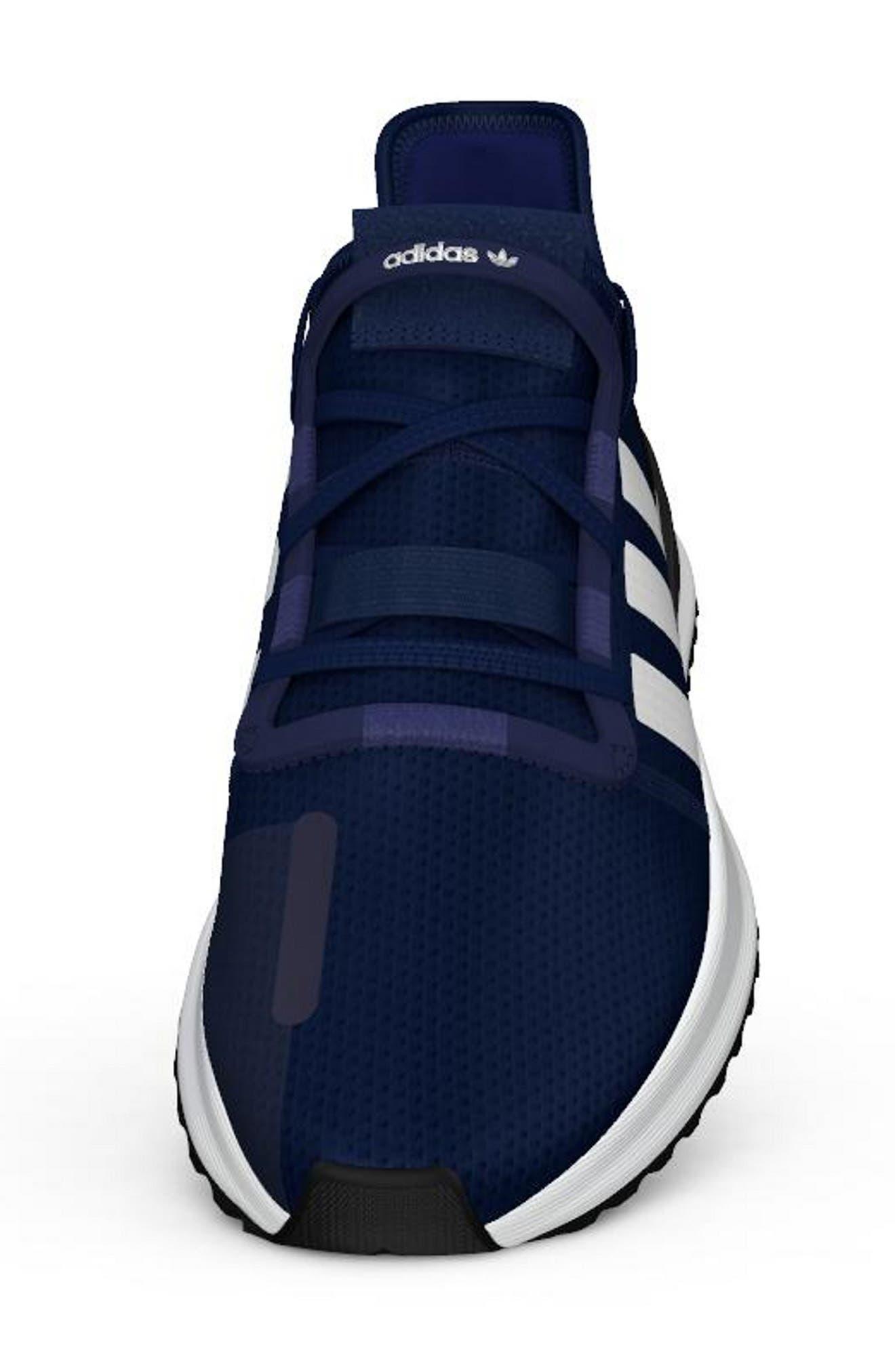 ,                             U-Path Run Sneaker,                             Alternate thumbnail 4, color,                             DARK BLUE/ WHITE