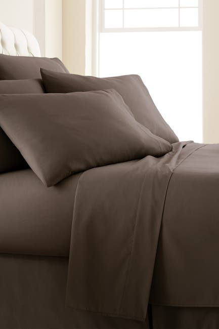 Image of SOUTHSHORE FINE LINENS King Sized Vilano Springs Extra Deep Pocket Sheet Set - Chocolate Brown