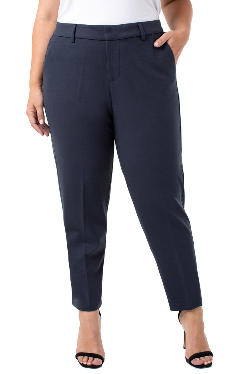 LIVERPOOL Kelsey Ponte Knit Trousers, Main, color, NIGHT SKY BLUE