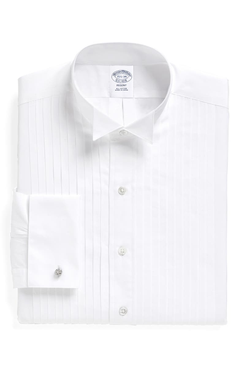 BROOKS BROTHERS Regent Regular Fit Formal Shirt, Main, color, WHITE