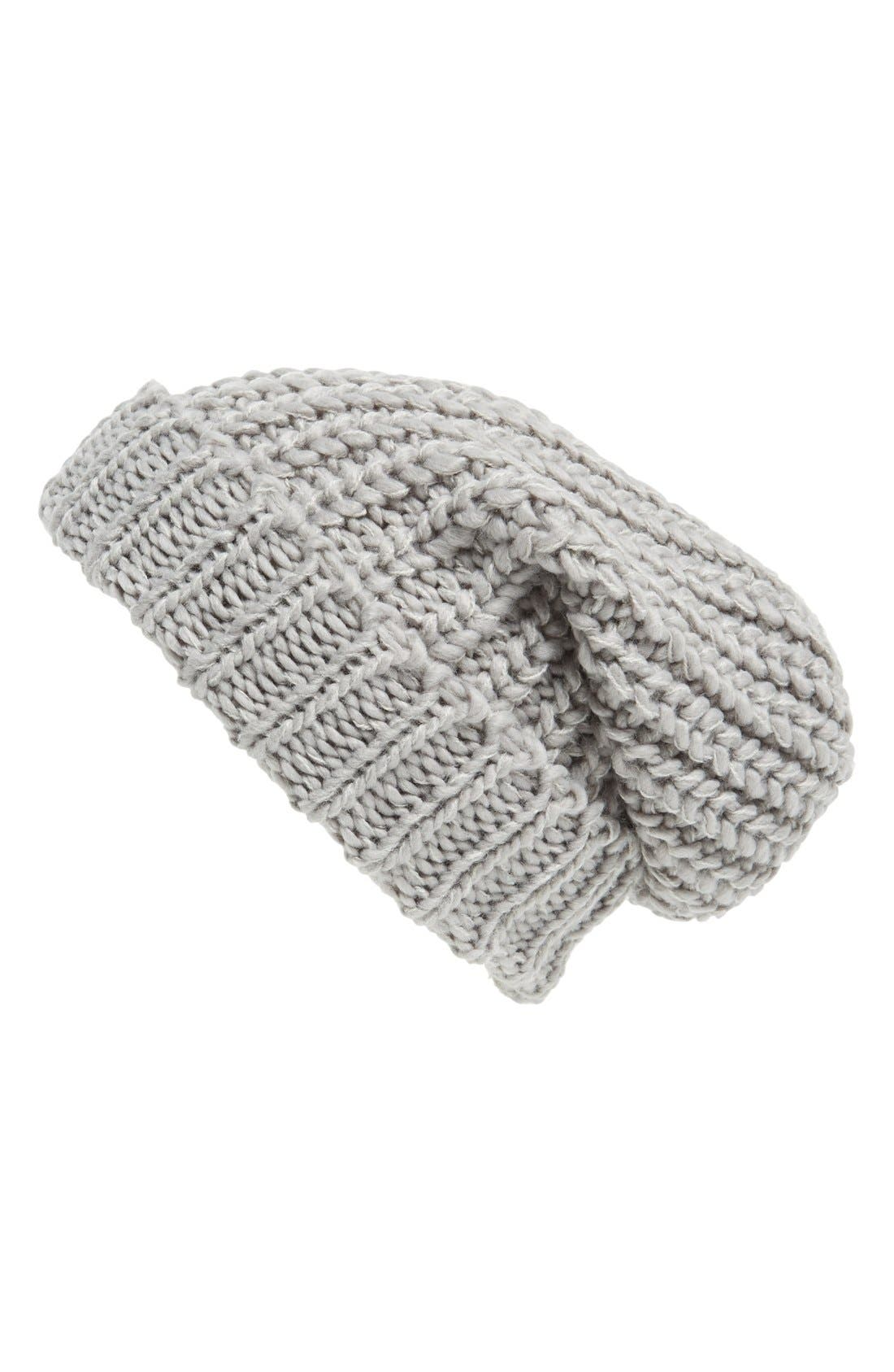,                             Chunky Rib Knit Beanie,                             Main thumbnail 3, color,                             020