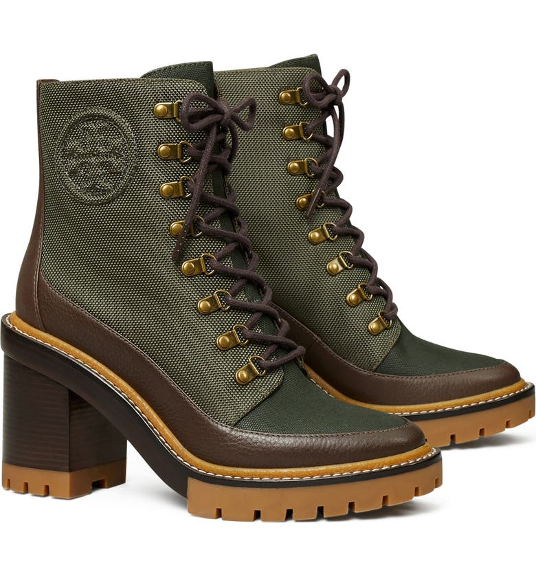 TORY BURCH Miller Bootie, Main, color, OLIVE / MILITARE / BROWN