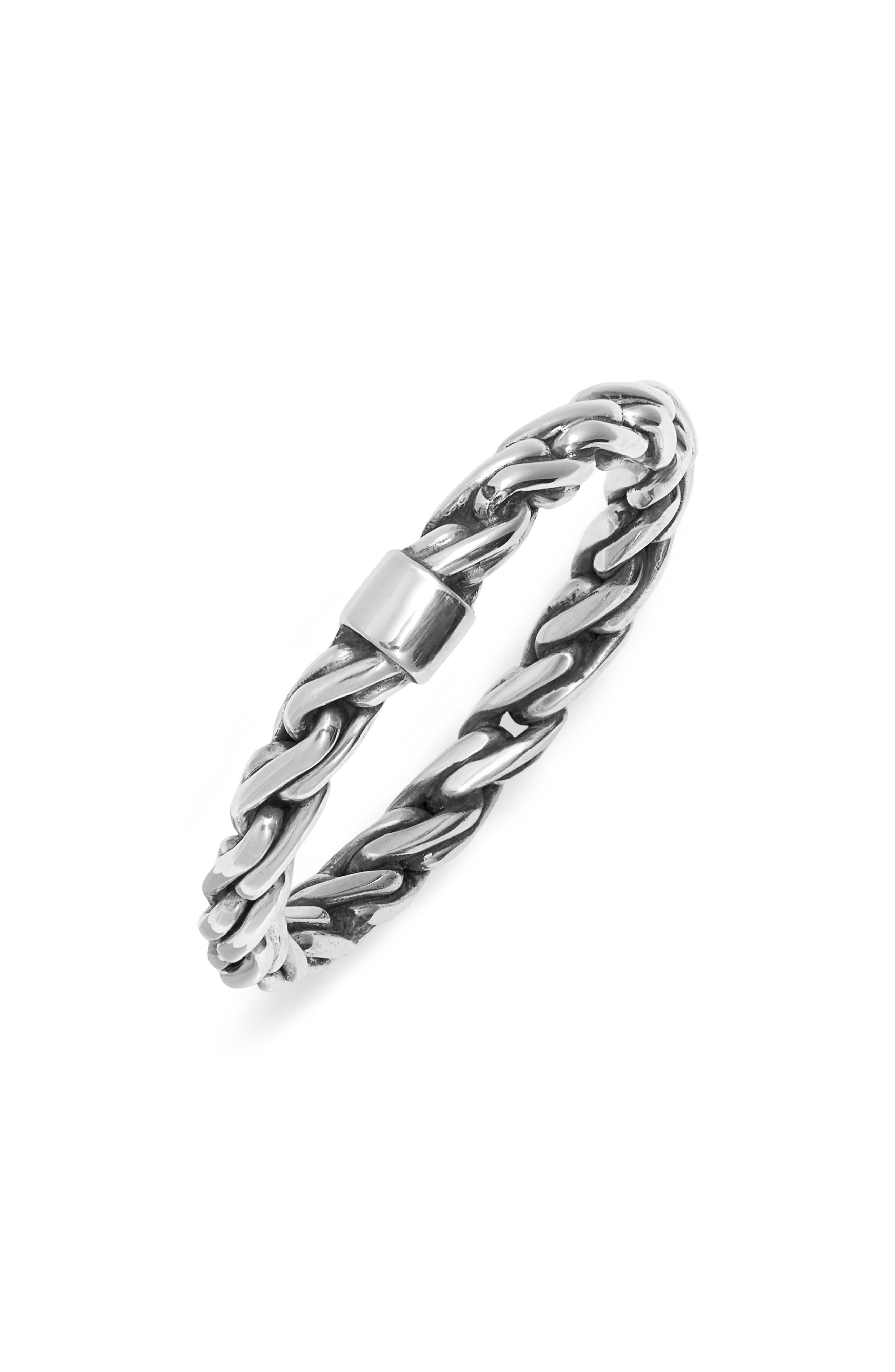 Men's Rope Chain Ring