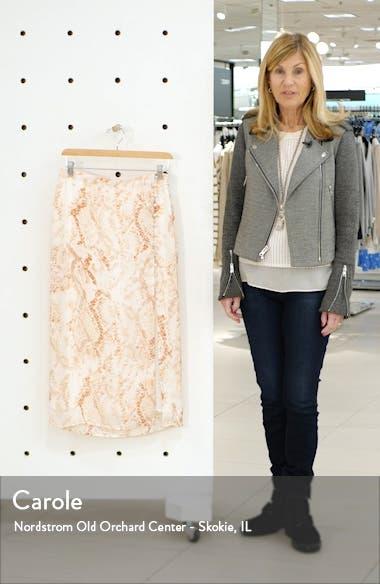 Fairfax Snakeskin Print Satin Midi Skirt, sales video thumbnail