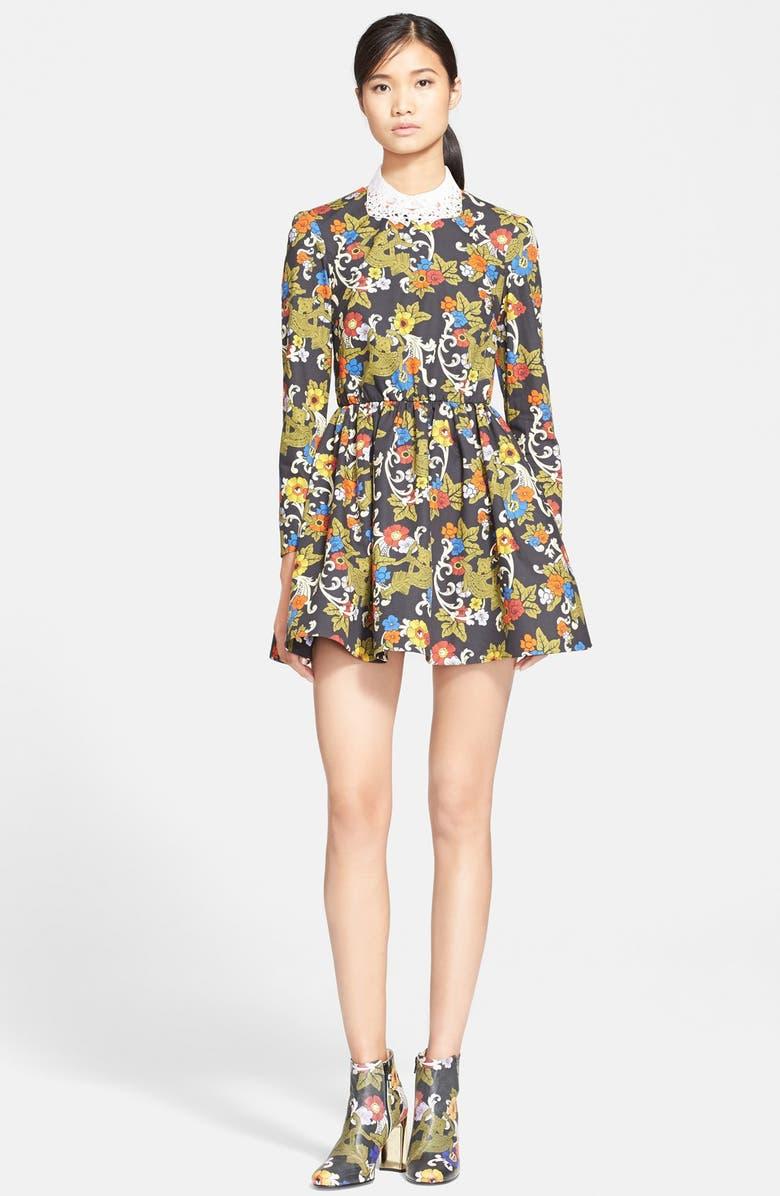 VIVETTA 'Eris' Print Cotton Poplin Fit & Flare Minidress, Main, color, 300