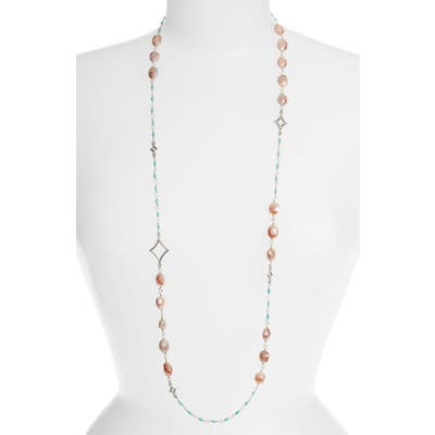 Armenta New World Long Stone Beaded Necklace