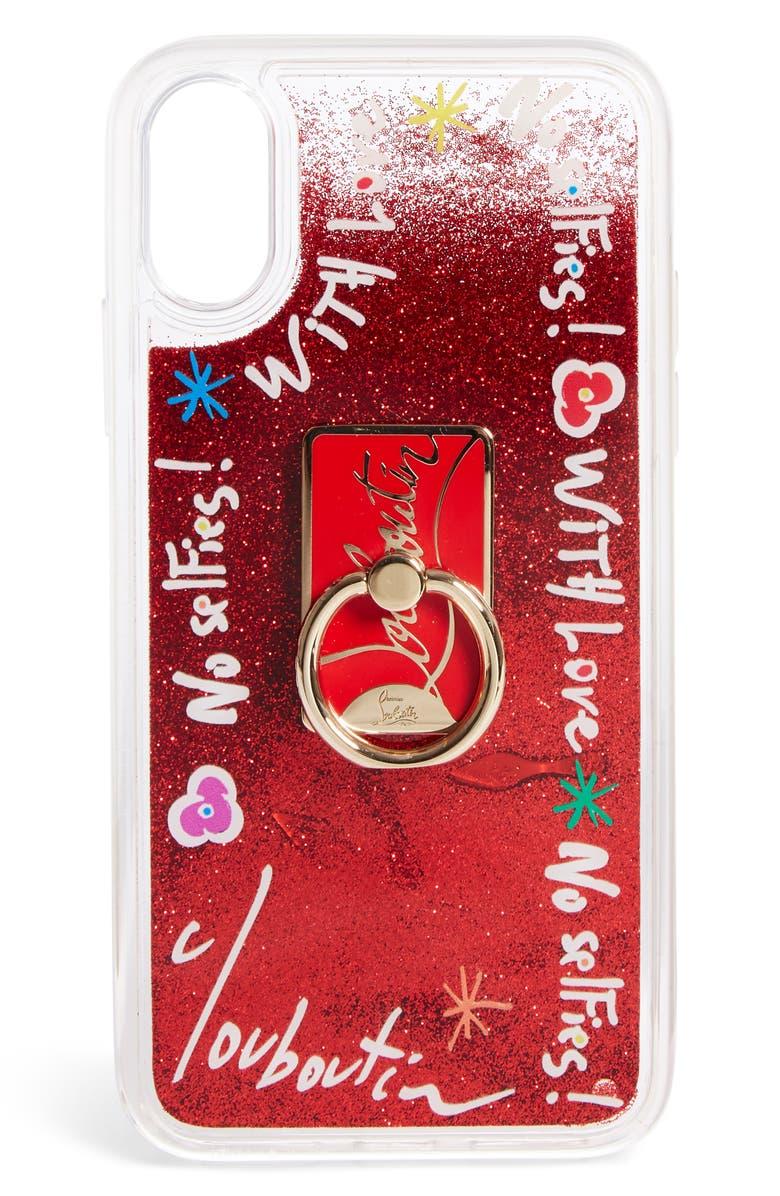 CHRISTIAN LOUBOUTIN Loubiring iPhone X/XS Case, Main, color, RED MULTI