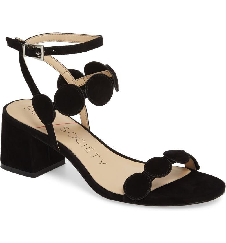 SOLE SOCIETY Shea Block Heel Sandal, Main, color, 001