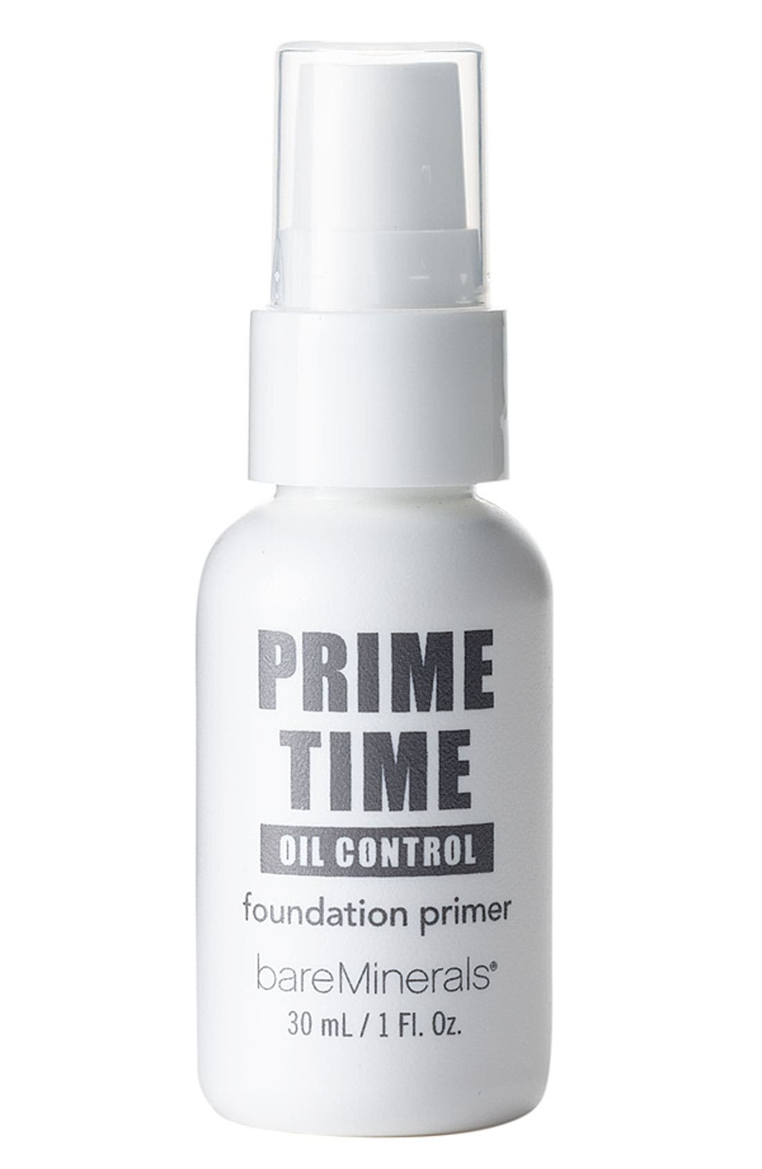 Bare Escentuals<sup>®</sup> bareMinerals<sup>®</sup> 'Prime Time' Oil Control Foundation Primer, Main, color, 000