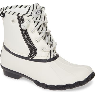 Sperry Saltwater Bionic Water Resistant Boot, Ivory