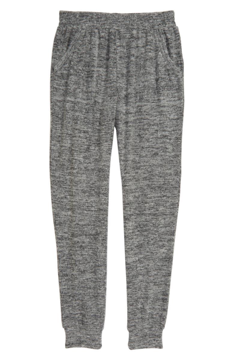 HABITUAL Bexley Hacci Knit Jogger Pants, Main, color, CHARCOAL GREY HEATHER