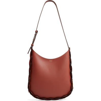 Chloe Medium Darryl Leather Hobo - Brown